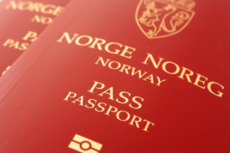 Illustrasjonsbilde av norsk pass