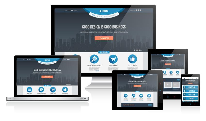 Responsive nettsteder fungerer godt på alle plattformer. Illustrasjon: Hakan Ertan
