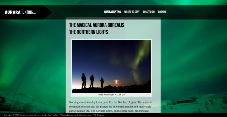 Nytt nettsted: Aurora Hunting .com