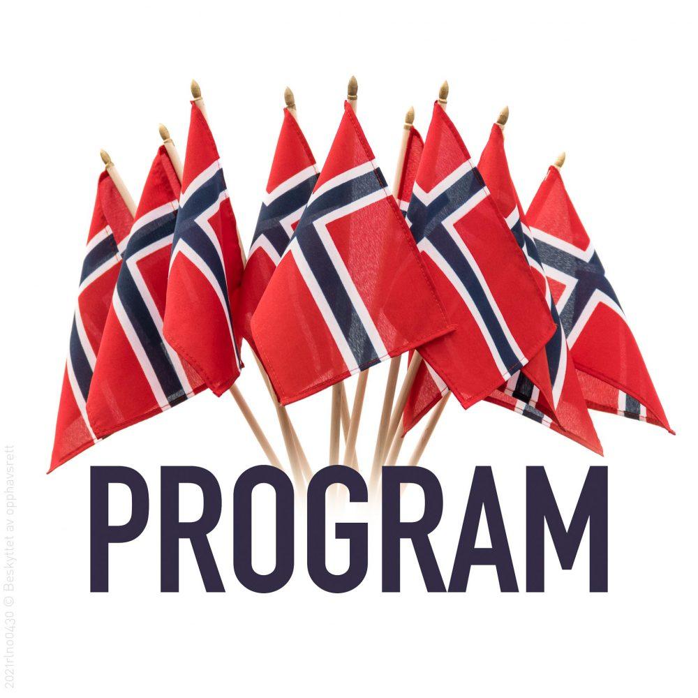 Program og flaggbukett