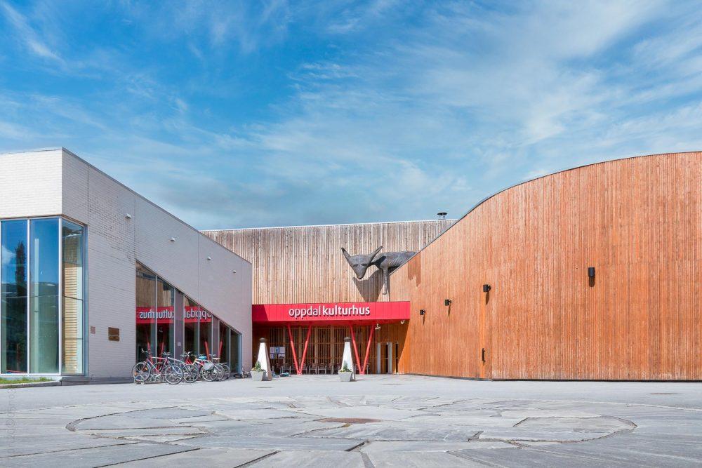 Oppdal kulturhus inngangsparti