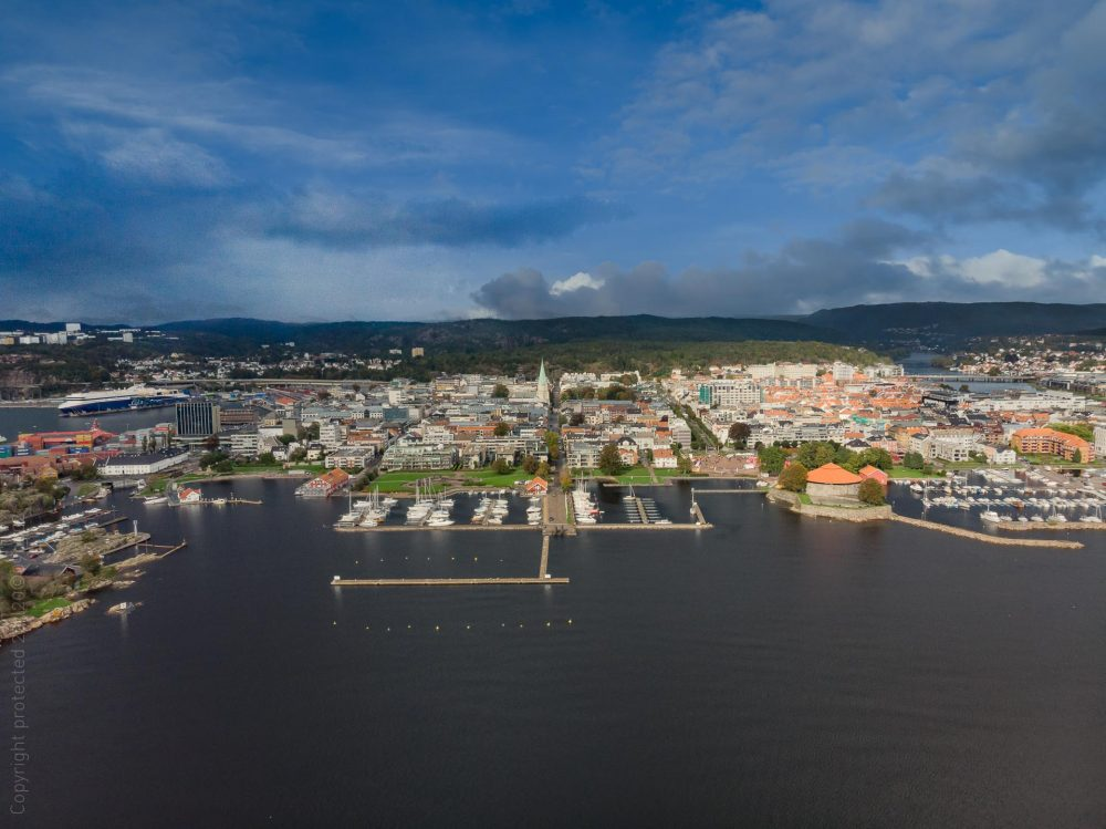 Kristiansand dronefoto
