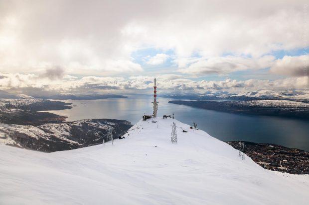 Narvik og Linken vinterstid
