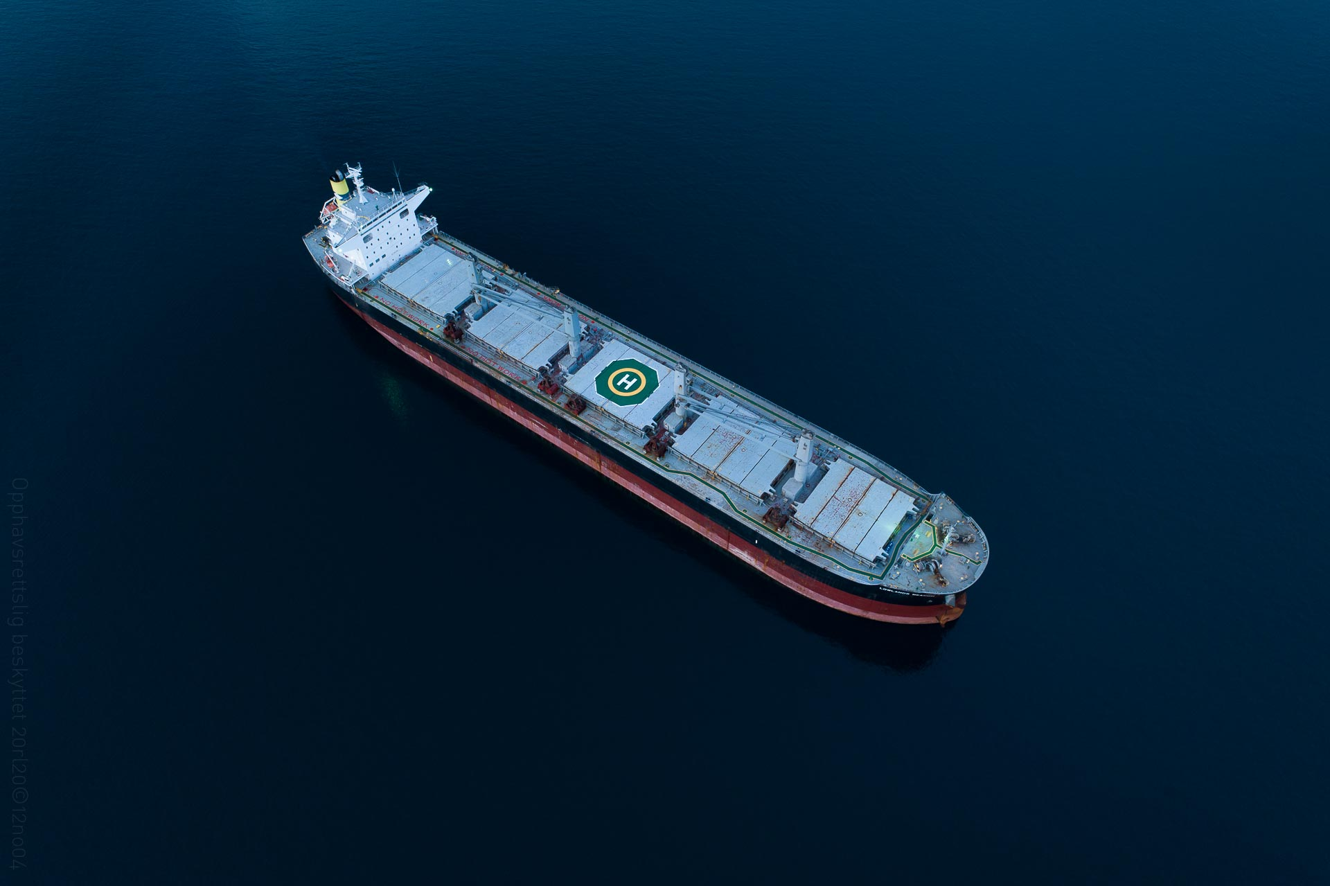 Lowlands Beacon bulk carrier aerial
