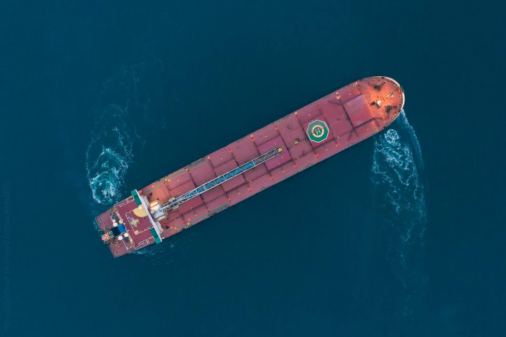 Bulk carrier turning